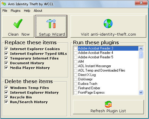 ID Identity Theft SpyWare Security Secure Trojan PC Windows